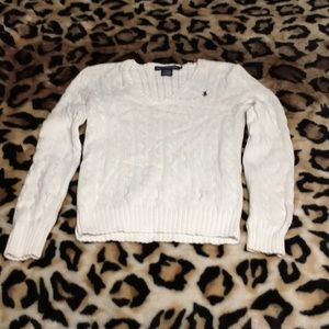 Gently used Ralph Lauren Sport cable knit sweater